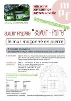 Atelier en Savoie (73) : Construction d'un mur traditionnel en pierre