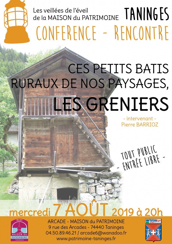 Affiche-conférence greniers Taninges-190709